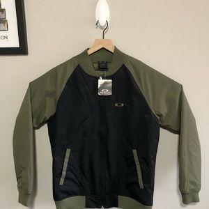 Olive Green Oakley Bomber  Jacket Sz M